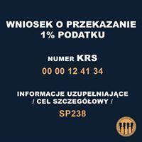 Wniosek o przekazanie 1% podatku na rzecz RR SP 238